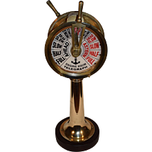 Beautiful Vintage Nautical Brass Ships Engine Room Telegraph.