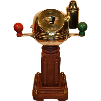 Nautical Brass Ship's Binnacle with E. Esdaile & Sons Sydney N.S.W. Compass.