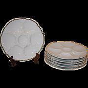Vintage Porcelain de Baudour Oyster Plates.