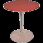 Mid Century Modern Space Age Acrylic Tulip Side Table. Perspex / Plexiglass.