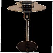 Mid Century Modern Danish Design Chrome & Acrylic Table Lamp, Atomic Age / UFO LAMP.