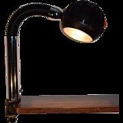 Mid Century Modern Chrome Adjustable Table Clamp Lamp, Design; Richard Essig.