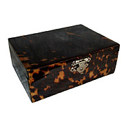 Dutch Vintage Faux Tortoise Shell Jewelry Box.
