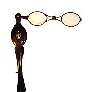 Antique Faux Tortoise Shell Lorgnette Glasses.
