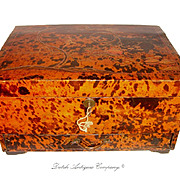 Antique Chinese Tortoise Shell Jewelry Chest, Tortoiseshell Box