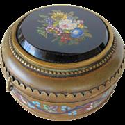 Antique Grand Tour Bronze Micro Mosaic Enamel Jewelry Box - Red Tag Sale Item