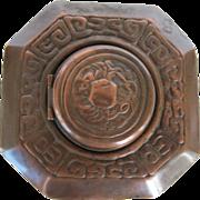 Tiffany Studios NY Zodiac Bronze Inkwell