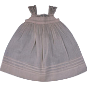 Beautiful Antique French Muslin Pinafore Dress for Small JUMEAU, BRU Other FRENCH BEBE circa 1880's