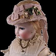 Wonderful Antique Straw Hat for French Fashion Doll circa 1865-70