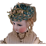 Marvelous Antique Straw Wire Bonnet for HURET, ROHMER other French Fashion Doll circa 1865-70