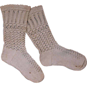 Beautiful Antique French Knitted Stockings circa 1880's for JUMEAU, BRU other French BEBE