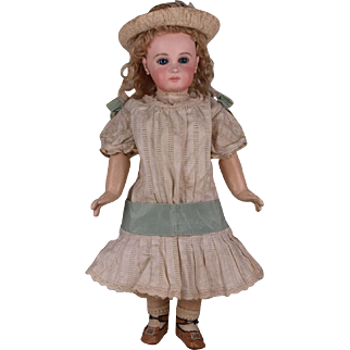 Wonderful Antique Factory-Original circa 1880's French Dress for Jumeau, Bru, Steiner other French Bebe