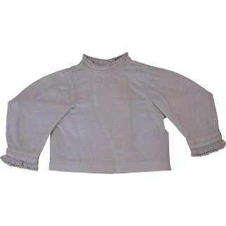Antique Factory-Made circa 1860's Pique Blouse for French Fashion Doll