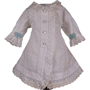 Wonderful Antique Factory-Original French Bebe Coat Dress circa 1880, for Jumeau size 7