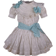 Beautiful Antique Original Muslin French Dress and Chemise for Jumeau, Bru, Steiner other French Bebe circa 1880's