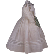 Beautiful Antique Original Fine Muslin French Dress for Jumeau, Bru, Steiner other French Bebe circa 1880's