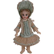 Marvelous Antique Small Bebe Costume and Bonnet for Tiny Jumeau, Bru, Steiner other French Bebe