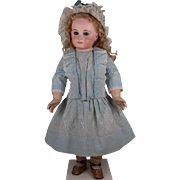 MARVELOUS Antique Original Hand Embroidered French Bebe Dress and Matching Bonnet for Jumeau, Bru, Steiner other French Bebe