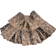 Beautiful Antique Brussels Lace Flounce from 19th Century