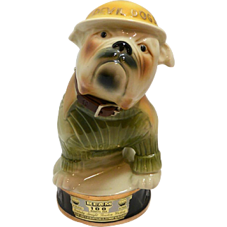 Vintage Jim Beam Marine Corp Devil Dog Decanter