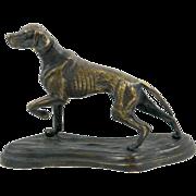 Vintage Bronze Pointer Dog Sculpture