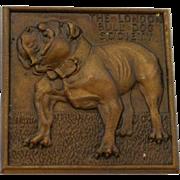 Vintage Bronze London Bulldog Society Medal c. 1929 - 1936
