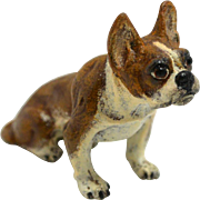 Vintage Cold Painted Bergmann Bronze French Bulldog with certificate c.1870-1920
