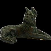 Bronze Reclining Boxer c.1920's - 1930's