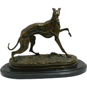 After P.J. Mene Bronze Greyhound c. late-1800's