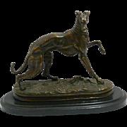 After P.J. Mene Bronze Greyhound c. late-1800's