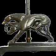 Art Deco Bronze Greyhound Pair Lamp c.1920's - 1930's