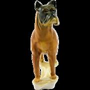 Karl Ens Porcelain Boxer Dog Large Figurine Germany 1935-1940