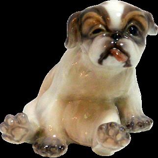 Dahl- Jensen Porcelain Pekingese Puppy #1134
