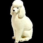Russian Lomonosov Porcelain Poodle Dog Figurine