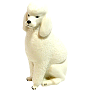 Russian Lomonosov Porcelain Poodle Dog Figurine