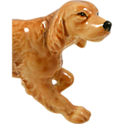 Vintage Porcelain Standing Golden Retriever Dog