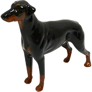 "Vintage Doberman Pinscher Dog ""Annastock Lance"" - Beswick England #2299"