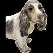Dahl Jensen Copenhagen Denmark Porcelain Cocker Spaniel Dog Figurine