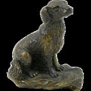 Vintage Miniature Bronze Spaniel Dog