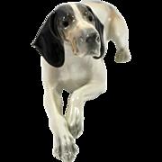 Large Metzler & Ortloff English Pointer Dog Figurine c.1910-1940's