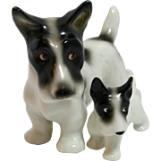 Vintage ERPHILA Terrier Mom and Pup