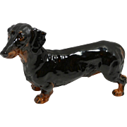 Vintage Royal Doulton Dachshund Black and Tan c. 1937 - 1985