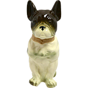 Vintage French Bulldog Porcelain Jar Germany