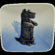 Vintage Royal Copenhagen Scottish Terrier Porcelain Trinket Dish