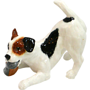 Vintage Royal Doulton Jack Russell Terrier with Slipper #H.N. 2654
