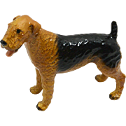 Large Mortens Studio Airedale Dog c.1930's-1960