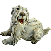 Cacciapuoti Porcelain Maltese Dog Figurine Signed