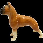 Vintage Fawn Boxer Dog Porcelain Figurine