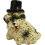 Vintage Spaghetti Sheepdog in a Top Hat c.1950's