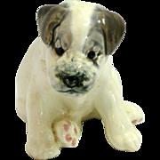 Vintage Konakovo Faience Puppy Dog Figurine